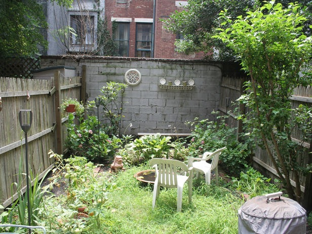 Urban outsiders hgtv the lucky gardener for Back garden designs before and after